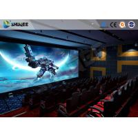 Best Exciting 5 D Movie Theater Electronic Chair With Safety Belt , Armrest wholesale