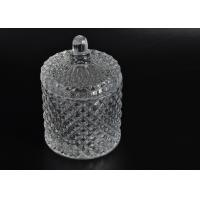 Best Elegant White Glass Dome Candle Holder Personalised Glass Jars With Lid wholesale