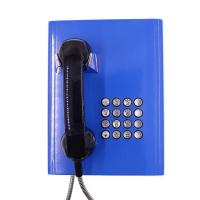 Best Full Keypad Vandal Resistant Telephone Blue Color With Robust Cold - Rolled Steel Body wholesale