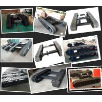 Best rubber track undercarriage manufacturer rubber track system rubber crawler chassis wholesale