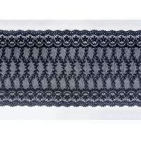 Best Navy Floral Embroidered Nylon Mesh Lace Trim With Guipure Ribbon Azo Free wholesale