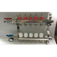 Best Material Stainless Steel 304 Floor Heating Manifold With Two Ball Valve wholesale