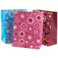 Best Eco-friendly Recycable Silver Paper Non Toxic Custom Printed Gift Bags with Handles wholesale