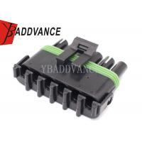 Best Black 6 Way Female Weather Pack Connector 6 Position 12015799 41x52.5x20.8 Mm wholesale
