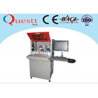 Quality High Precision Automatic Fiber Laser Marking Machine With 2 Station Rotate Table wholesale