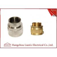 Best Brass Male / Female Flexible Conduit Adaptor with Nickle Plated 20mm 25mm wholesale