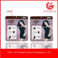 China Laminated material clothing packaging bags for women's underwear on sale