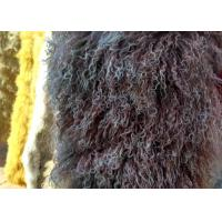Best Real Long hair Sheepskin Genuine Mongolian lambswool curly sheep fur blanket wholesale
