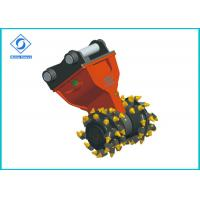 Best Low Noise Drum Cutter For Excavator , Flexible Hydraulic Rotary Cutter HDC50 wholesale