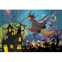 Best 0.6mm PET Happy Halloween Poster Lenticular Flip 30 * 40cm For Party Decoration wholesale