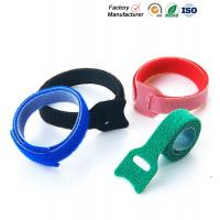 Cheap Small Hook And Loop Cable Ties Down Straps , Self Adhesive Hook And Loop Closure for sale