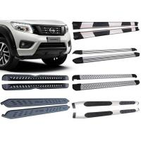Best Black And Silver Vehicle Running Boards For 2015 2018 Nissan Navara Pick Up wholesale
