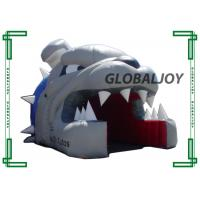 Cheap Waterproof Inflatable Football Tunnel Bulldog Head Sports Player Entryway wholesale