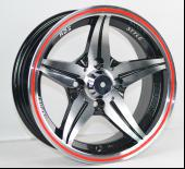 China Alloy Cars Silver Full Painted Wheels 13x5.5 With Machine Cut Face on sale