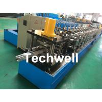 Best Galvanized Steel / PPGI Guide Rail Roll Form Machines With Hydraulic Punching Device wholesale