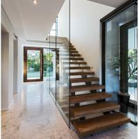Best Indoor prefabricated stairs wooden floating stairs wholesale