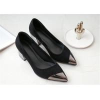 Cheap Pointed Metal Toe Comfortable Trendy Shoes Low Cut Sheep Suede Leather Uppers for sale