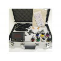 Best 7 Colors Ink 2 Machine Guns Permanent Makeup Tattoo Kit With Aluminum Box wholesale