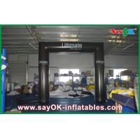 Best Black Truss Inflatable Arch PVC Tube Archway With CE / UL Blower wholesale