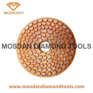 Best 4 Inch Velcro Diamond Metal Bonded Grinding Disc for Concrete wholesale
