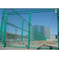 Outdoor 6 Foot Chain Link Fence Panels For Sports Yard / Industrial Sites