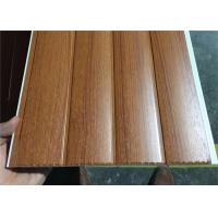 Best Vinyl Wood Wall Paneling Sheets , Pvc Bathroom Ceiling Cladding Groove Design wholesale