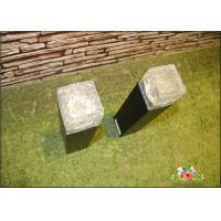 Cheap Iron Ice Bollard Square Solar Outside Lights / Solar Powered Decking Lights for sale