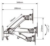 Best Gas Spring Monitor Arm ,PC monitor mount Arm,adjustable Mount single Monitor Computer Stand holder articulating Arm wholesale