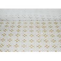 Best DTM French Guipure Corded Lace Fabric , 100 Polyester Chemical Lace wholesale
