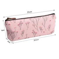 Best Soft Nylon Zipper Pencil Pouch For Girls Pencil 21*18.5*8 Cm wholesale