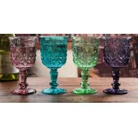 Best Height 16.5cm Crystal Solid Coloured Wine Glasses / Purple Champagne Glass Cups wholesale