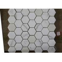 Best Polished Marble Hexagon Mosaic Tile , Marble Mosaic Bathroom Floor Tile wholesale