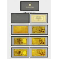 Best Full Set Of South African 24K Gold Banknote In Pure 99.9 Gold With Album Collectable wholesale