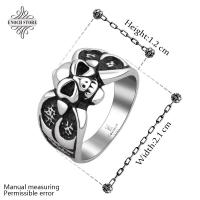 Best Unique Men's Gift 316l Skull Shaped Gothic Style Rings wholesale