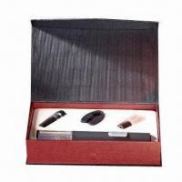 Buy cheap Delicate wine accessories set, includes rechargeable wine opener/wine stopper from wholesalers