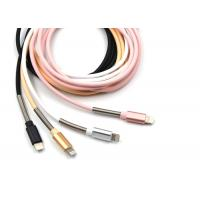 Cheap PU Wraped iPhone Mfi Cable in Pink Color / 1m Long Length / 8pin USB 2.0 for sale