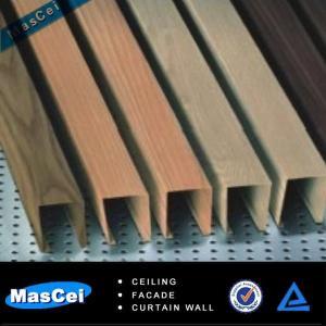 Best 2014 New Pop Metal Faux Wood Baffle Ceiling wholesale