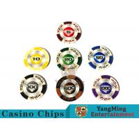 Best 14 Gram Matte Sticker Custom Clay Poker Chips With 25pcs In A Shrink Roll wholesale