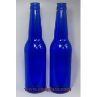 China 330ml cobalt blue beer glass bottle on sale