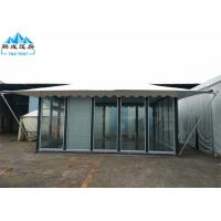 Best 5x6M White PVC Roof Hotel Marquee Party Tent With Glass Wall And Door wholesale