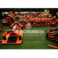 Best Running Race Inflatable Obstacle Course , Amusement Park Inflatable Sports Games wholesale