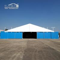 Buy cheap A shaped Military warehouse tent with large entrance and hard walls for sale from wholesalers