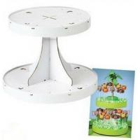 Best Point Of Purchase Displays , Cupcake / Candy Display Stands With 350gduplex Board With Grey Back wholesale