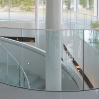 Best Arched Tempered Glass Curved Glass Balustrade Aluminum Railing wholesale