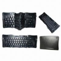 Best Folding Bluetooth Keyboard for Laptop, PC, iPhone, iPad and PDA, Key Size of 19 x 19mm wholesale