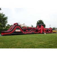 Best Super Explorer Inflatable Obstacle Course Red Color Double Stitching wholesale