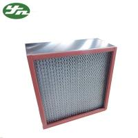 Best SS 304 HEPA Air Filter Resistance High Temperature For High Temp Clean Area wholesale