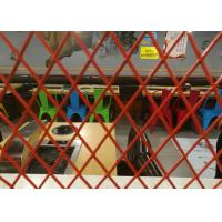 Best Decoration Metal Expanded Aluminum Mesh , 0 . 4mm Thickness Red Coating Expanded Wire Mesh wholesale