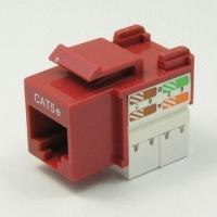 China 180° UTP Cat 5e Keystone Jack with 110/krone IDC Termination, Comes in Various Colors on sale