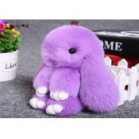 Best Pink Rabbit Fur Keychain wholesale